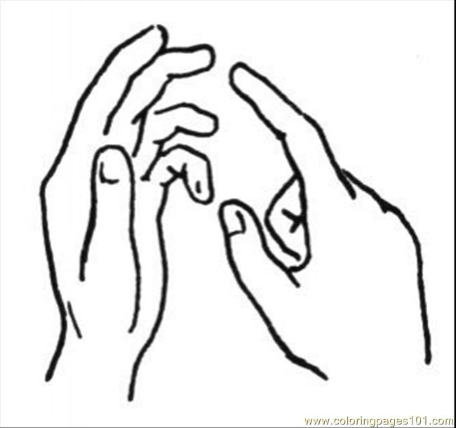 Talking With Hands Coloring Page