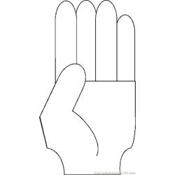 Fingers Counting   4 coloring page