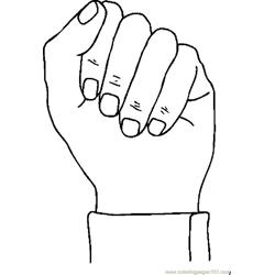 Fist 03 coloring page