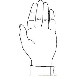 Hand 07 coloring page