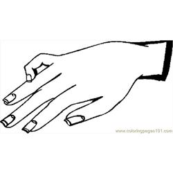 Hand 24 coloring page