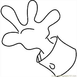 Hand 32 coloring page