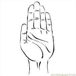 Hand 47 coloring page