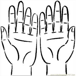 Hands 07 Free Coloring Page for Kids