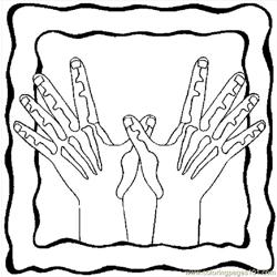 Hands 09 Free Coloring Page for Kids