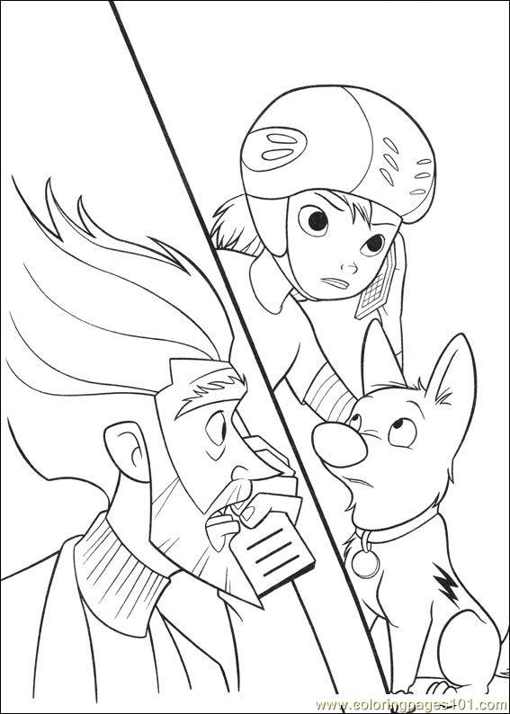 Bolt Coloring Pages 004 Coloring Page
