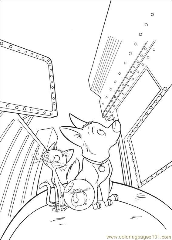 bolt coloring pages 027 coloring page - Bolt Coloring Pages