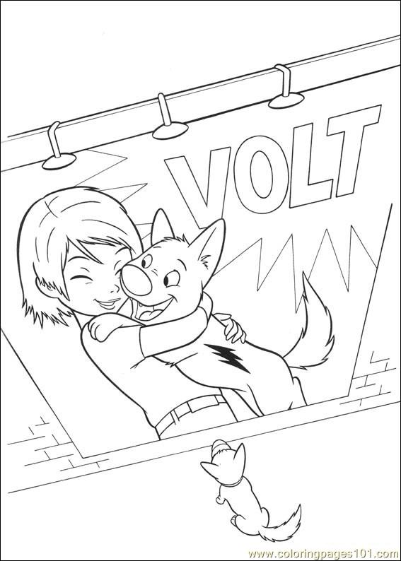 bolt coloring pages 034 coloring page - Bolt Coloring Pages