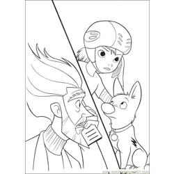 Bolt Coloring Pages 004