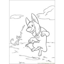 Bolt 26 Free Coloring Page for Kids