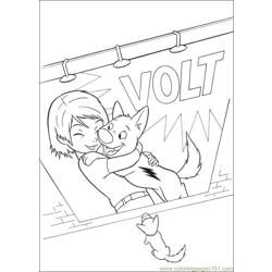Bolt 34 Free Coloring Page for Kids