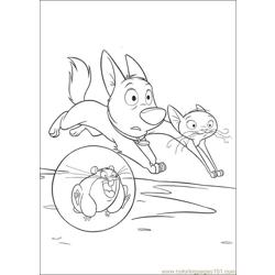 Bolt 38 Free Coloring Page for Kids