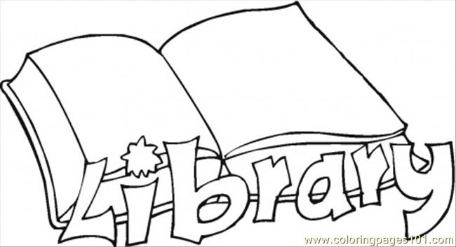 Library Coloring Page Free Books Coloring Pages