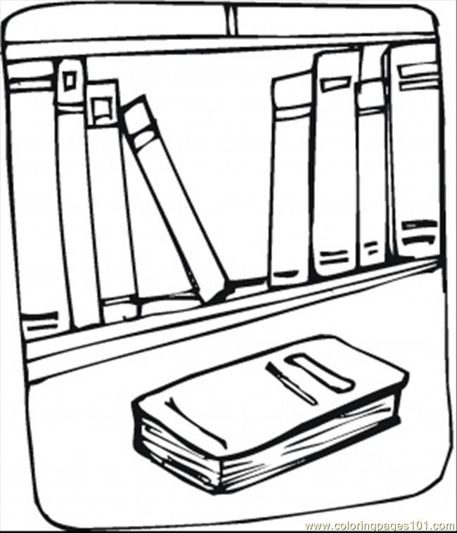 Missing Books Coloring Page