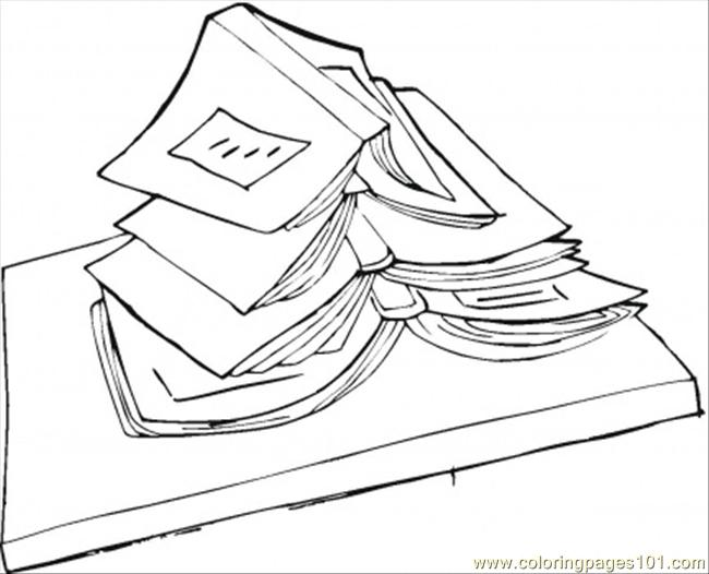 On The Top Of Book Coloring Page