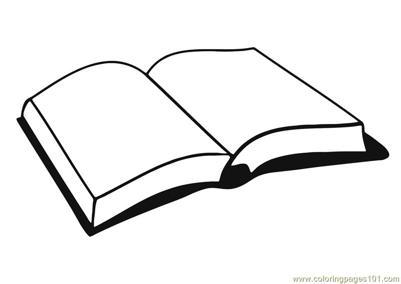 open book coloring page - Open Book Coloring Page