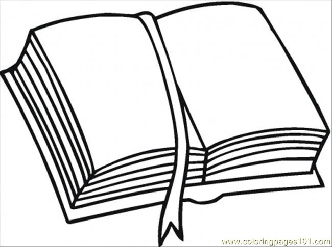 bookmark coloring page - Pictures Of Books To Color