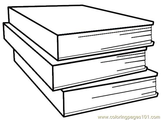 Text books Coloring Page
