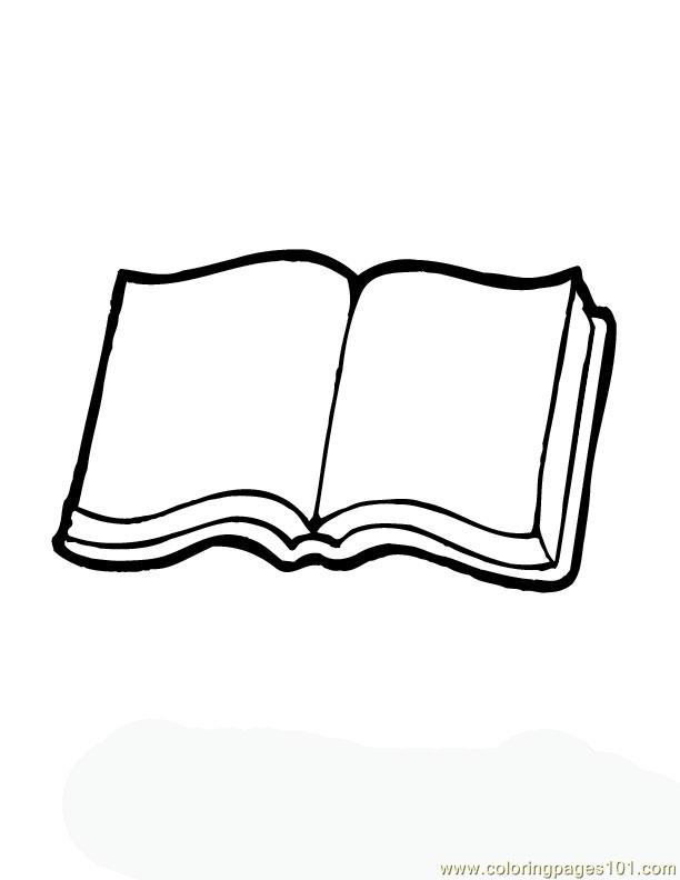 printable open book coloring pages - photo#6