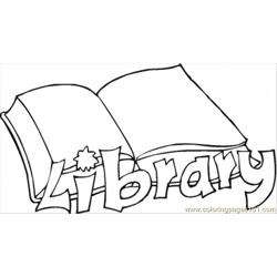 Library Free Coloring Page for Kids