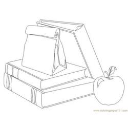 School Supplies Free Coloring Page for Kids