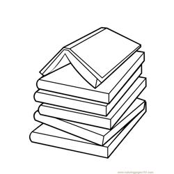 Book ink coloring page