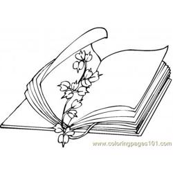 Flower book mark Free Coloring Page for Kids