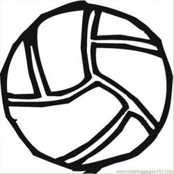 Volley Ball Coloring Page Free Coloring Page for Kids
