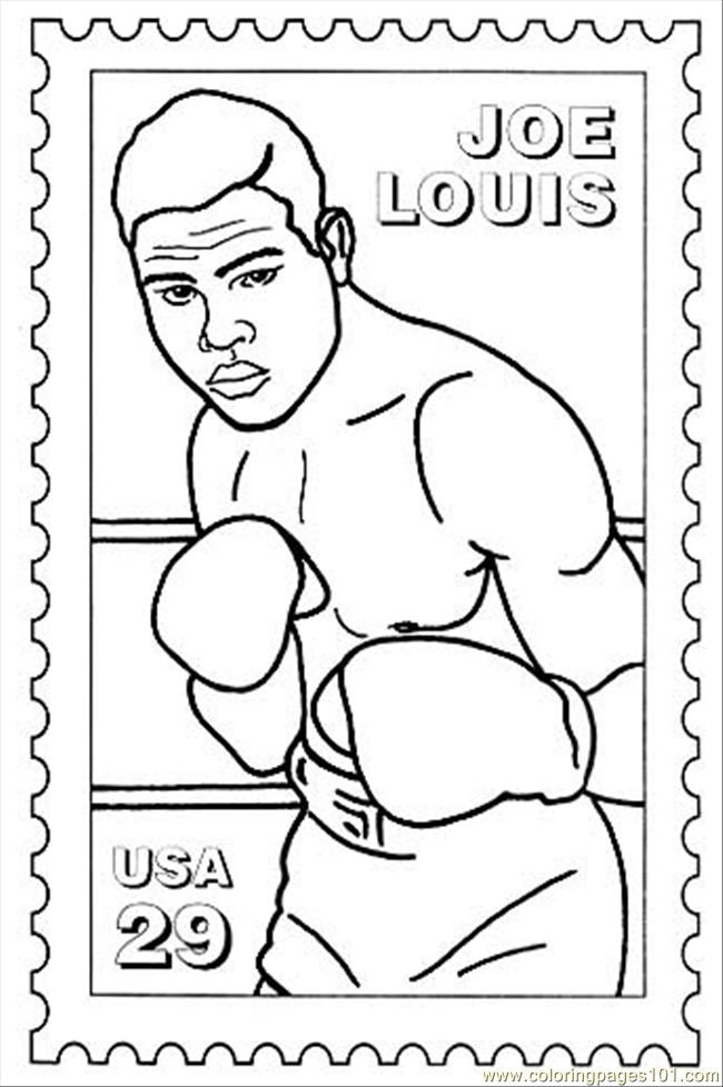 Joelouis Coloring Page Free Boxing Coloring Pages