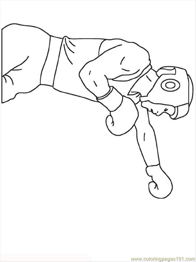 Boxer coloring page free boxing coloring pages for Boxing coloring pages