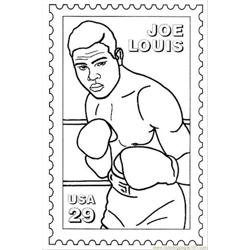 Joelouis Free Coloring Page for Kids