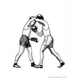 Photo Boxing Uppercut P12963 Free Coloring Page for Kids