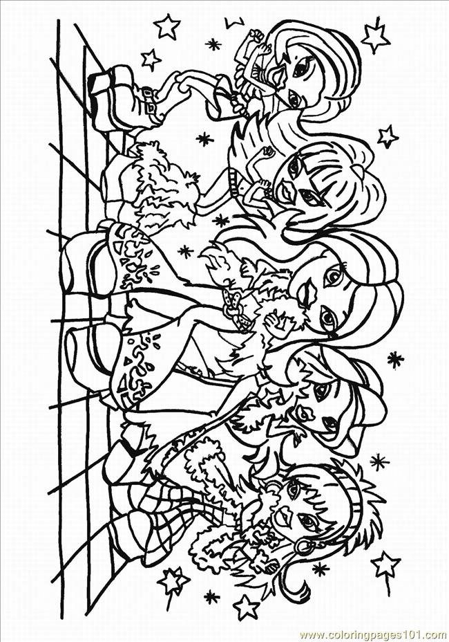 Free coloring pages of hanging