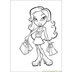Bratz bag Free Coloring Page for Kids