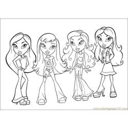 Bratz we four coloring page