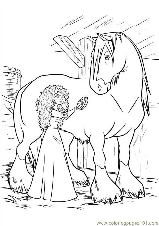 brave 19 coloring page - Brave Coloring Pages