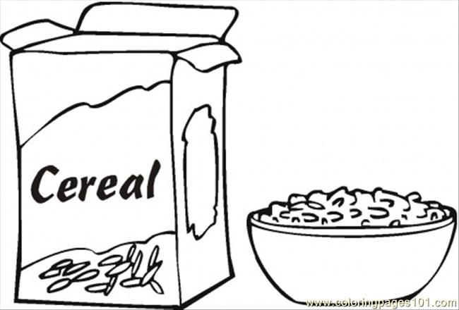 cereals for breakfast coloring page