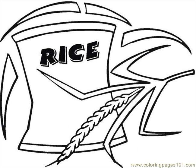 Rice 4 Coloring Page - Free Breakfast Coloring Pages ...