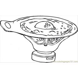 Soup With Eggs Free Coloring Page for Kids
