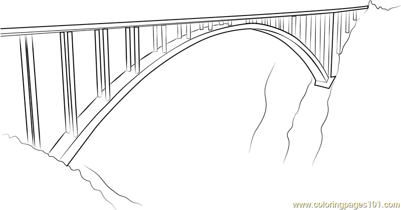 Bloukrans Bridge Coloring Page
