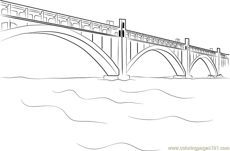 Bridges in Zaporizhia Coloring Page - Free Bridges Coloring Pages ...