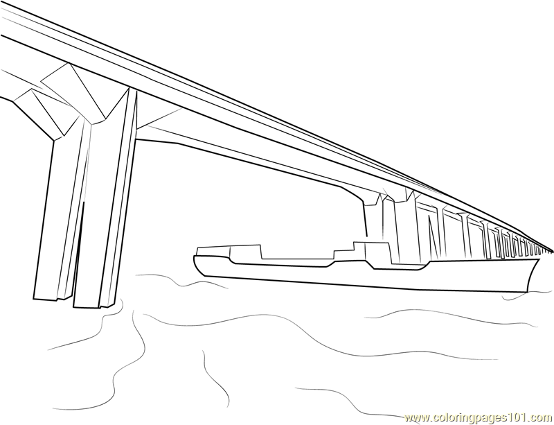 Canada Montreal Coloring Page Free Bridges Coloring