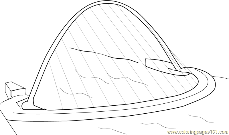 Gateshead Millennium Bridge Coloring Page Free Bridges