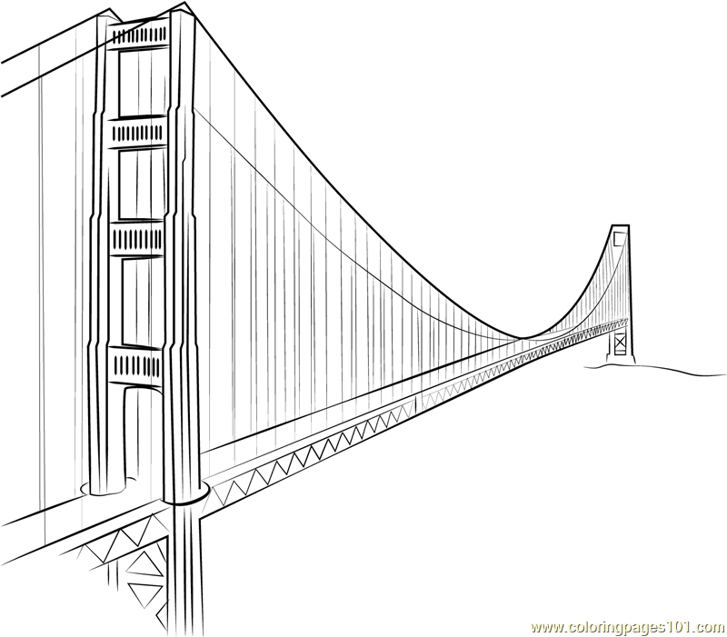 golden gate coloring pages - photo#6