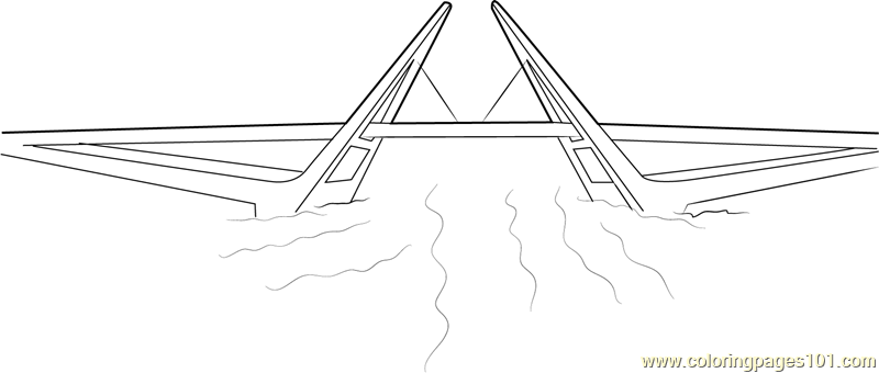 Hatea Bridge Coloring Page