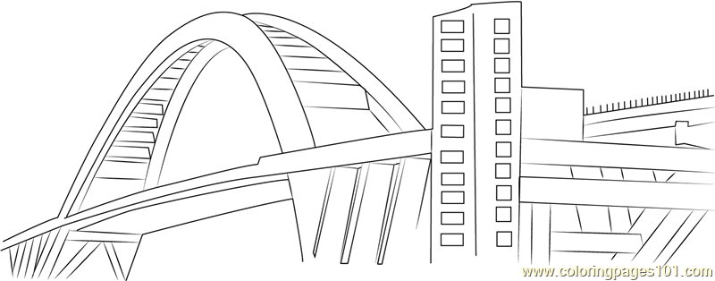Lupu Bridge Coloring Page