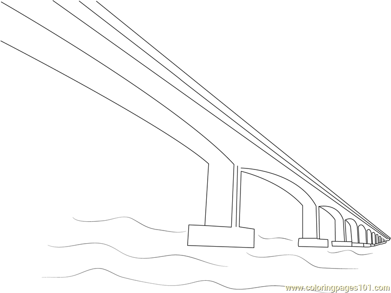 Narmada Bridge Coloring Page