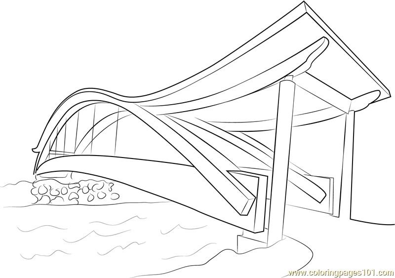 Pedestrian Bridges Coloring Page