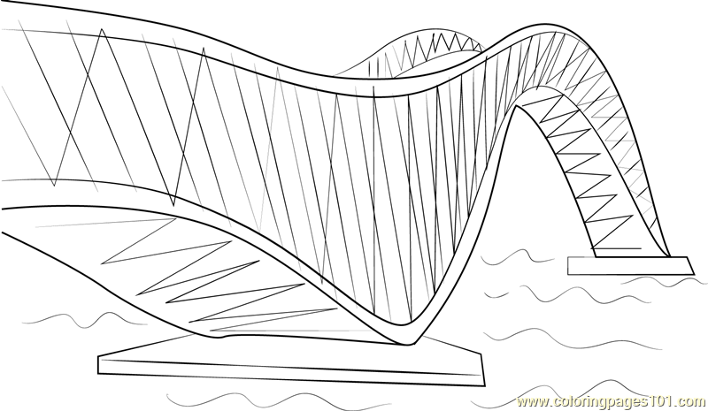 Puente de Zhoushan China Coloring Page