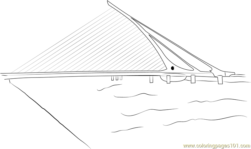 Samuel Beckett Bridge Coloring Page
